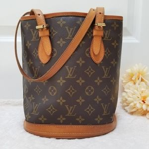 😍Louis Vuitton Bucket PM Shoulder Bag Monogram